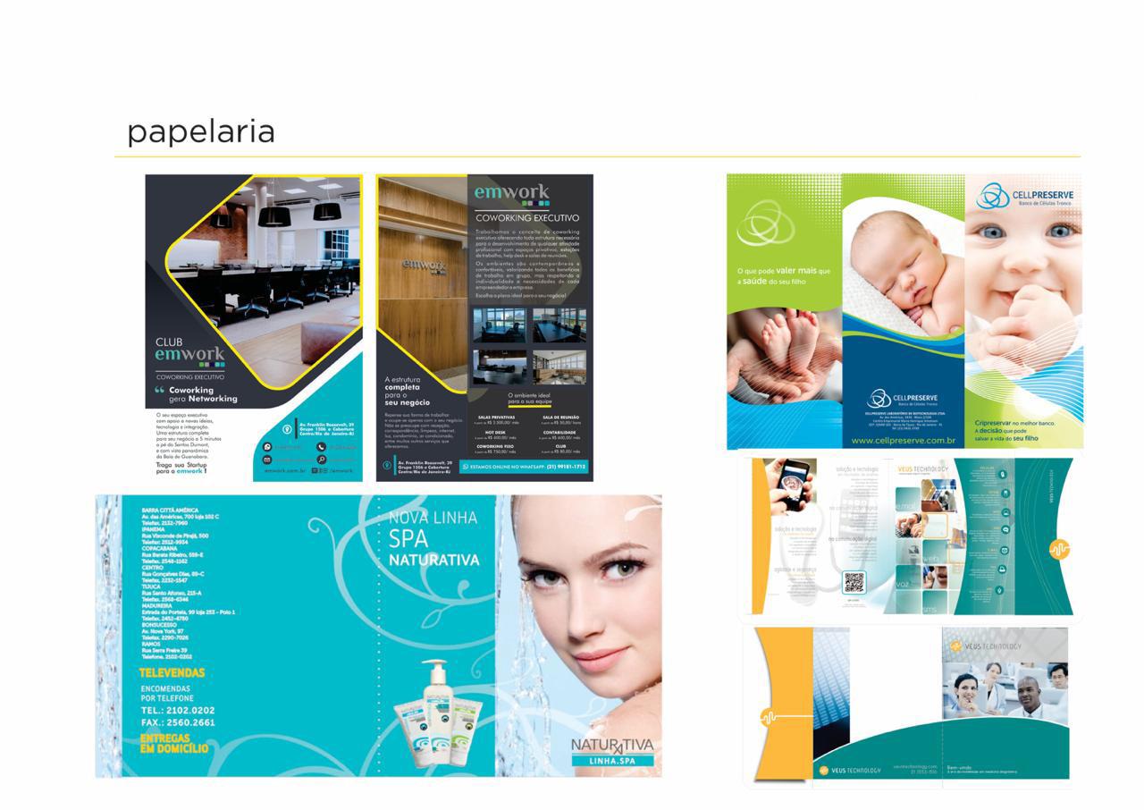 Portfolio design papelaria - fotos de folders e catálogos